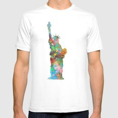 Liberty SMALL Mens Fitted Tee White
