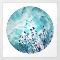 Branches and Cloudy Sky Art Print
