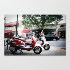 Mopeds Canvas Print