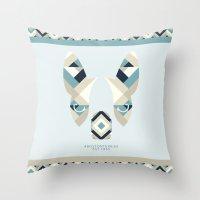 Boston Terrier: Stripes. Throw Pillow