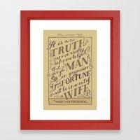 Jane Austen Covers: Pride and Prejudice Framed Art Print