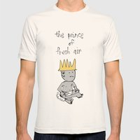the prince of fresh air Mens Fitted Tee Natural SMALL