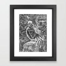 Chicken Scratch Framed Art Print