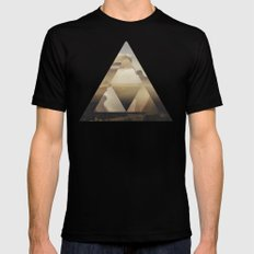 Hyrule - Power of the Triforce SMALL Mens Fitted Tee Black