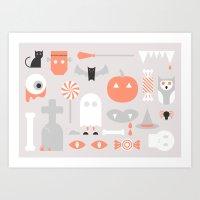 #24 Halloween Art Print