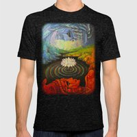 Earth-and-Sky Mens Fitted Tee Tri-Black SMALL