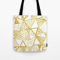 Golden Doodle triangles Tote Bag