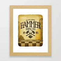 HAMMER BROTHERS Framed Art Print