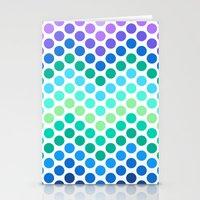 Dot Chevron: Blue Purple Stationery Cards