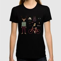 Deer Boy Womens Fitted Tee Black SMALL