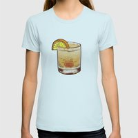 DRINK  Womens Fitted Tee Light Blue SMALL