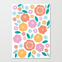 Cheerful Florals Canvas Print