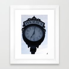 Einstein's clock is exactly one minute... Framed Art Print