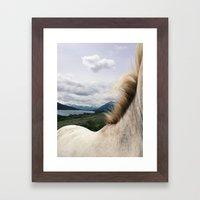 Horse Back Framed Art Print