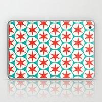 Retro Red Stars Pattern Laptop & iPad Skin