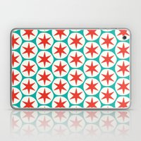 Retro Red Stars Pattern Laptop & iPad Skin