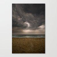 Barceloneta Storm Canvas Print