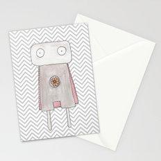 Robot superhero Stationery Cards