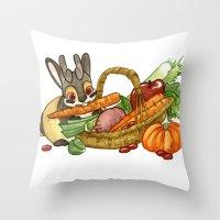 November Jackalope Throw Pillow
