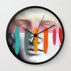 Composition on Panel 2 Wall Clock
