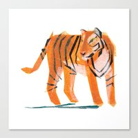 Canvas Print featuring Jack Tiger by Darrah Gooden