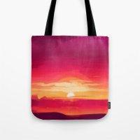 A Panoramic Sunset Tote Bag