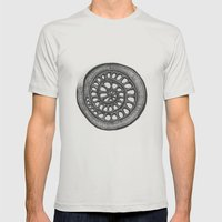 Circle Mens Fitted Tee Silver SMALL
