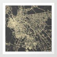 El Paso Map Art Print