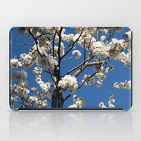 White & Blue iPad Case
