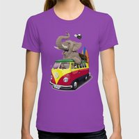 Pack the Trunk (wordless) Womens Fitted Tee Ultraviolet SMALL
