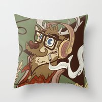Oh My Deer (be Unique An… Throw Pillow