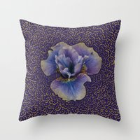 Iris Drawing Meditation Throw Pillow