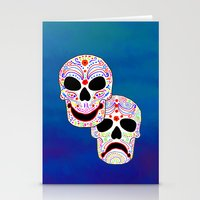 Comedy-Tragedy Colorful … Stationery Cards