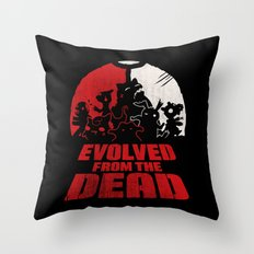Evolved From The Dead Throw Pillow