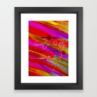 Sweet Or Sultry - Sexy C… Framed Art Print