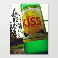Canvas Print featuring Kiss Soda by Vorona Photography