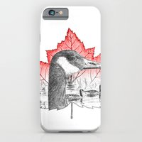 Canada Goose on Maple Leaf (with some red) iPhone 6 Slim Case