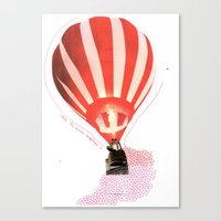 Let's fly away together Canvas Print