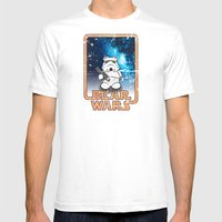 Bear Wars Vintage - Bear Trooper Mens Fitted Tee White SMALL