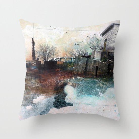 In A Fog Throw Pillow