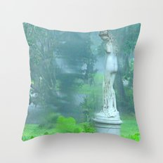 Standing in the Rain Throw Pillow