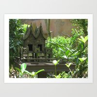 Bird Mansion Art Print