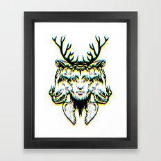 GOD II Psicho Framed Art Print