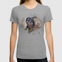 Magneto. Womens Fitted Tee Tri-Grey SMALL