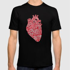 Lonely hearts Mens Fitted Tee Black SMALL