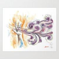 cotton clouds Art Print