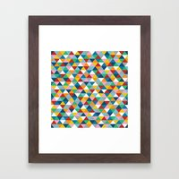 Triangles of Colour Framed Art Print