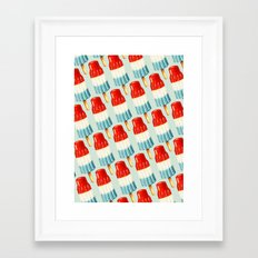 Bomp Pop Pattern Framed Art Print