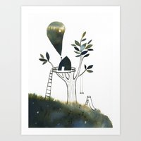 Art Print featuring Tiny Tree House by Diana Toledano