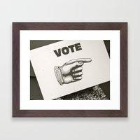 Vote Here Framed Art Print